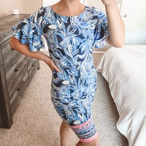 Lilly Pulitzer Dianna Dress High Tide Navy & Pink